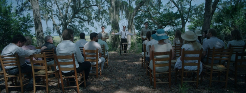 Pastor standing front of a congregation