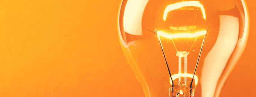 lightbulb on yellow background